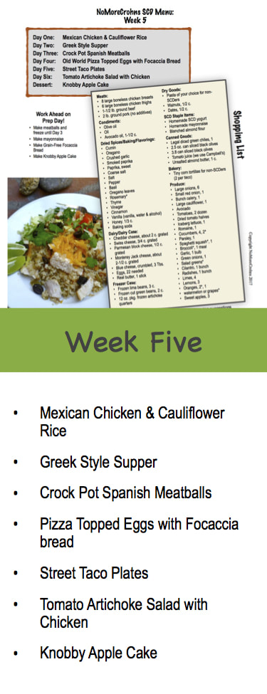 Easy weekly menus no more crohns for me forumfinder Choice Image